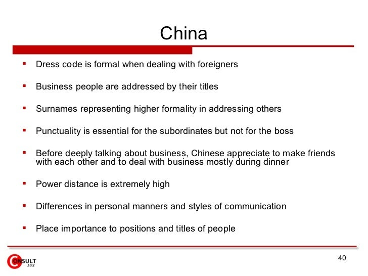 Differences Between American & Chinese Culture