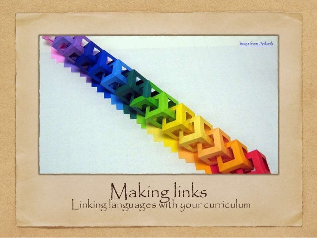 Making links Linking languages with your curriculum Image from Ardonik