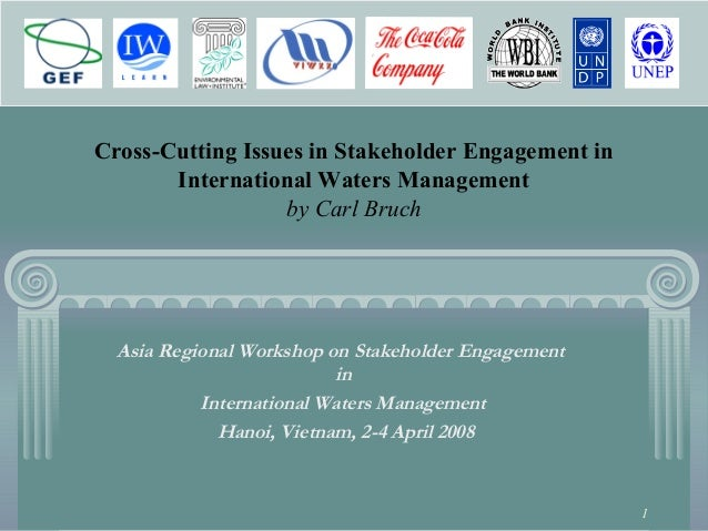1 Cross-Cutting Issues in Stakeholder Engagement in International Waters Management by Carl Bruch Asia Regional Workshop o...