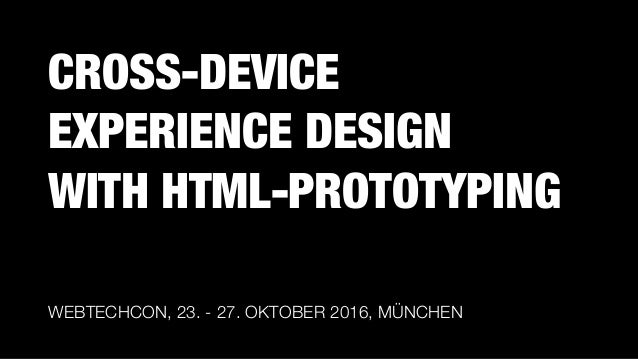 CROSS-DEVICE EXPERIENCE DESIGN 