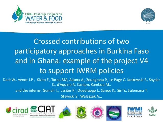 Crossed contributions of two participatory approaches in Burkina Faso and in Ghana: example of the project V4 to support I...