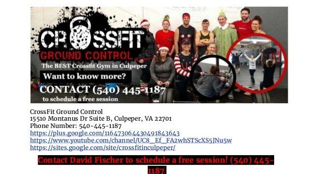 CrossFit Ground Control 15510 Montanus Dr Suite B, Culpeper, VA 22701 Phone Number: 540-445-1187 https://plus.google.com/1...