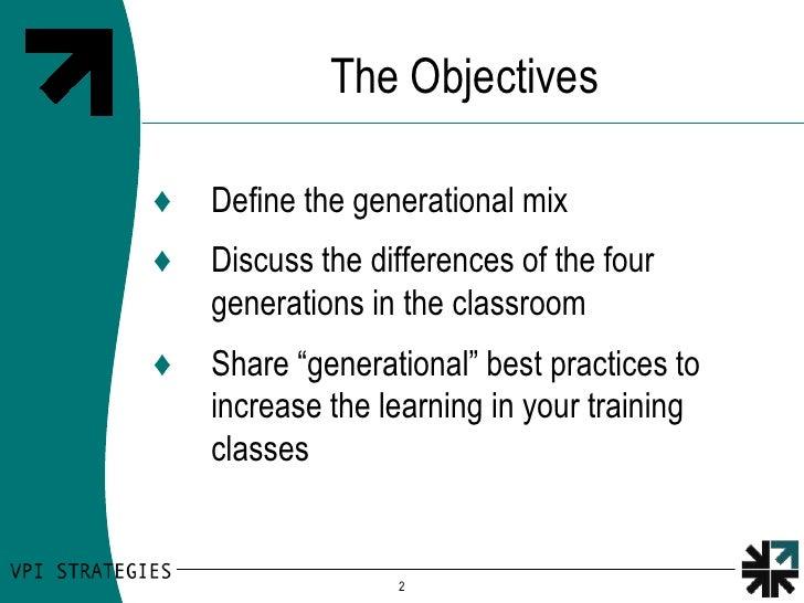 Cross Generation Learning Styles