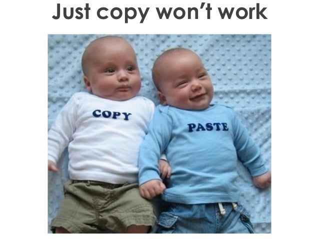 Just copy won't work