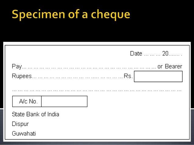 specimen of crossed cheque