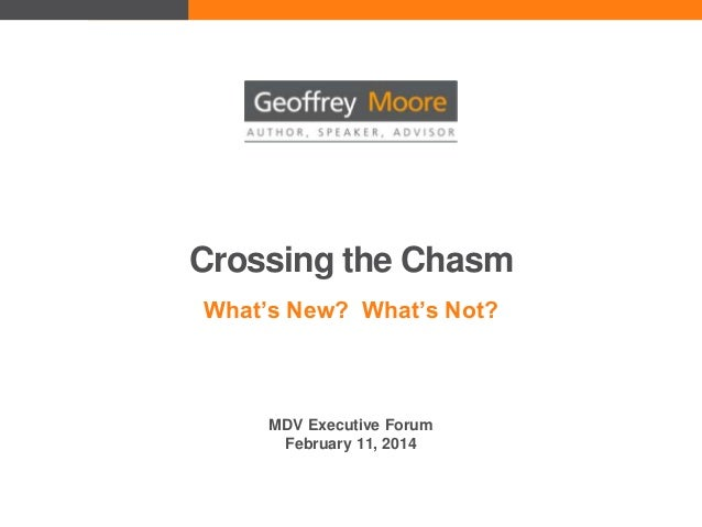 Crossing the Chasm What's New? What's Not?  MDV Executive Forum February 11, 2014