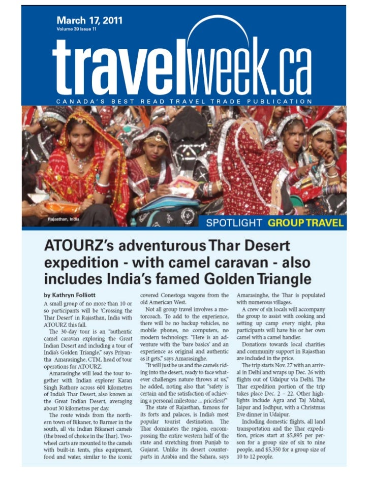 Crossing The Thar Desert Expedition   Travel Week Article