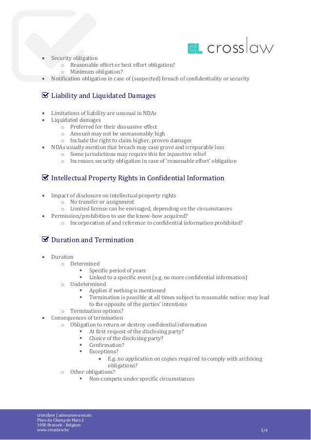 Crosslaw Checklist Non Disclosure Agreement En