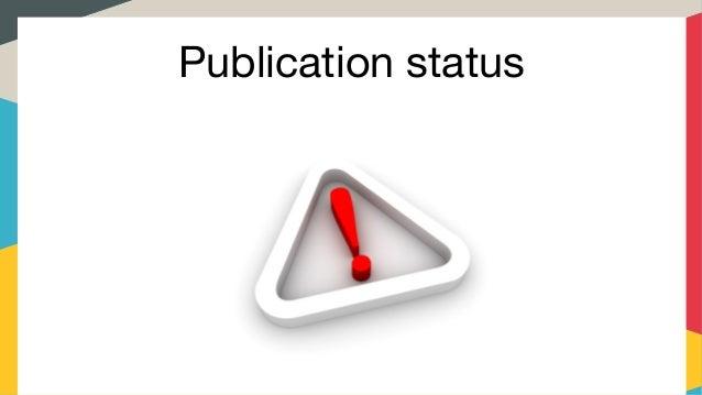 Publication status