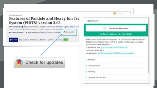 الممارسات أفضللكروسمارك -الوصفية للبيانات شامل إيداع -منه بالقرب أو المقالة عنوان أعلى مارك ...