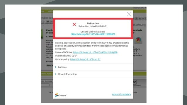 "Add Crossref DOI to web and PDF ٤. • HTML metadata <meta name=""dc.identifier"" content=""10.5555/12345""> • PDF eg. https://c..."