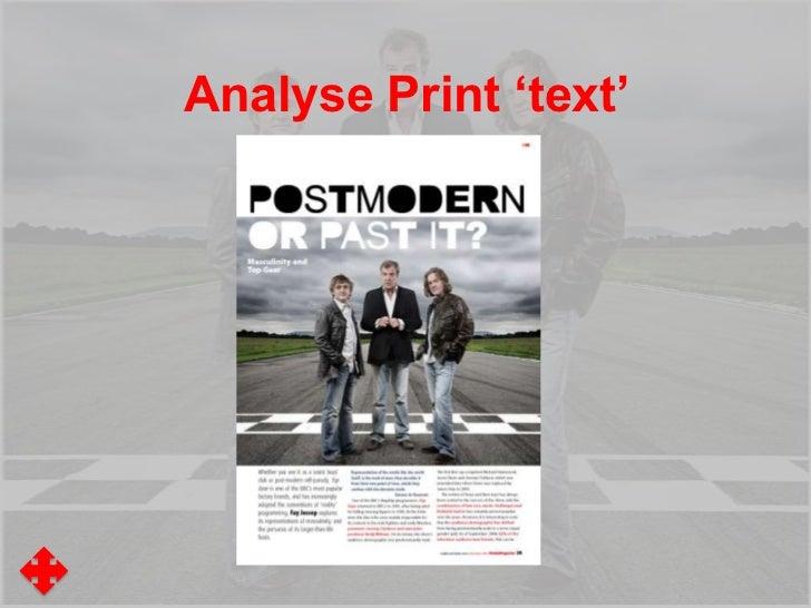 Analyse Print 'text'