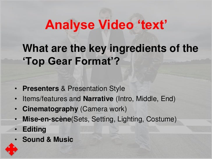 """Analyse Video 'text'Mise-en-scène""""The cool, muted colours in the mise-en-scène  of the Veyron sequence suggest typically m..."""