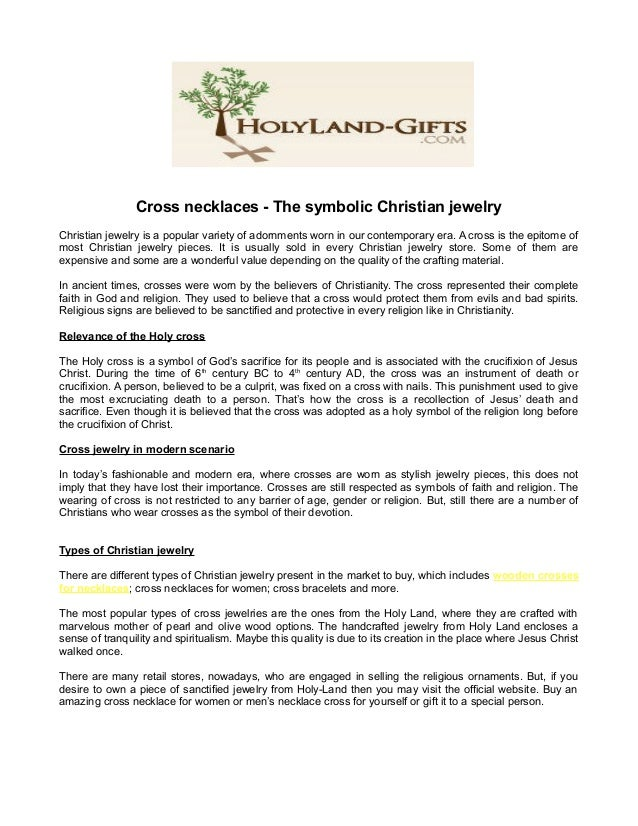 Cross necklaces - The symbolic Christian jewelry