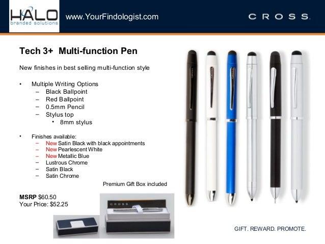 Cross Tech3+ Lustrous Chrome Multifunction Pen