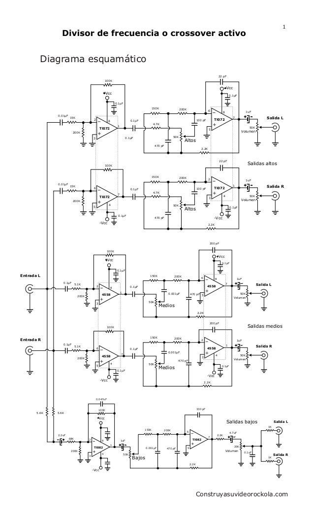 crossover ativo 3vias com ci-4558 active crossover wiring diagram
