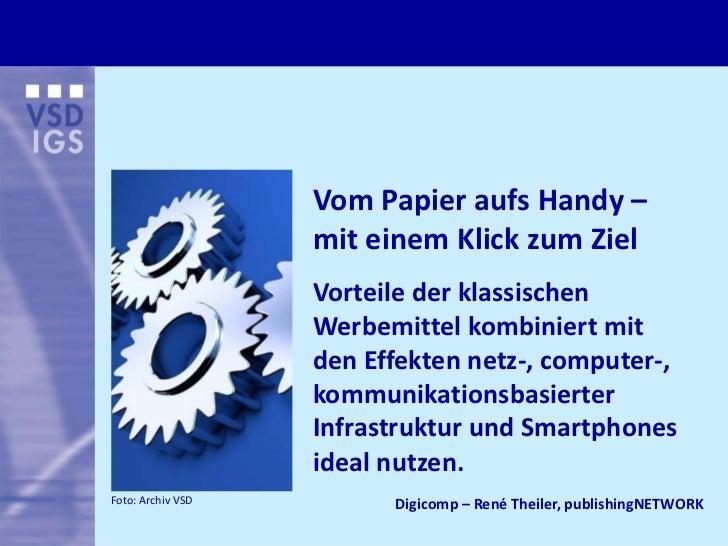 VomPapieraufsHandy–                   miteinemKlickzumZiel                   Vorteilederklassischen            ...