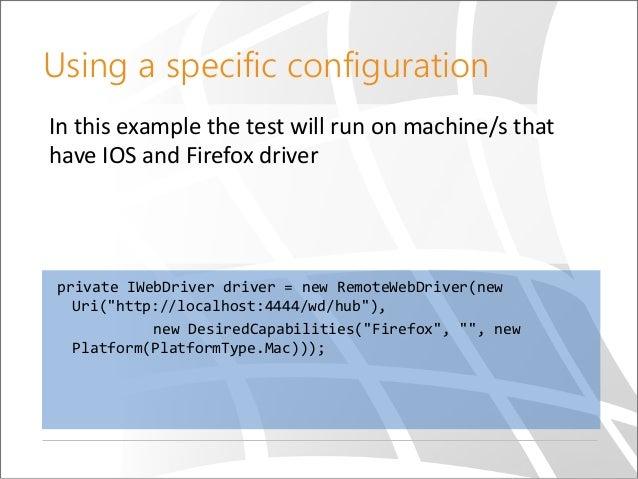 Cross platform browser automation tests sdp