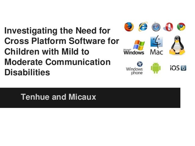 Cross Platform Software for Children with Mild to Moderate