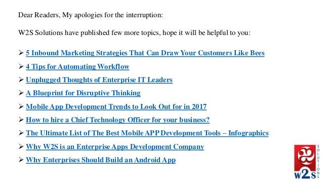 Dear Readers, My apologies for the interruption: W2S Solutions have published few more topics, hope it will be helpful to ...