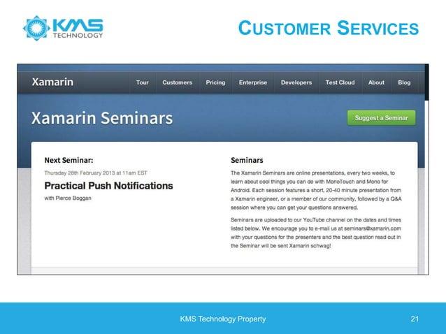 CUSTOMER SERVICES KMS Technology Property 21