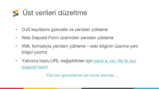 Crossref İçerik Kaydı Webinarı, Türkçe   Content Registration at Crossref , Turkish Webinar - 8 June 2021