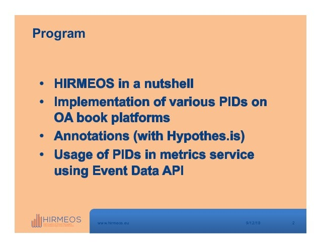 Crossref webinar: Pierre Mounier - Where does publisher metadata go and how is it used 9-11-18 Slide 2