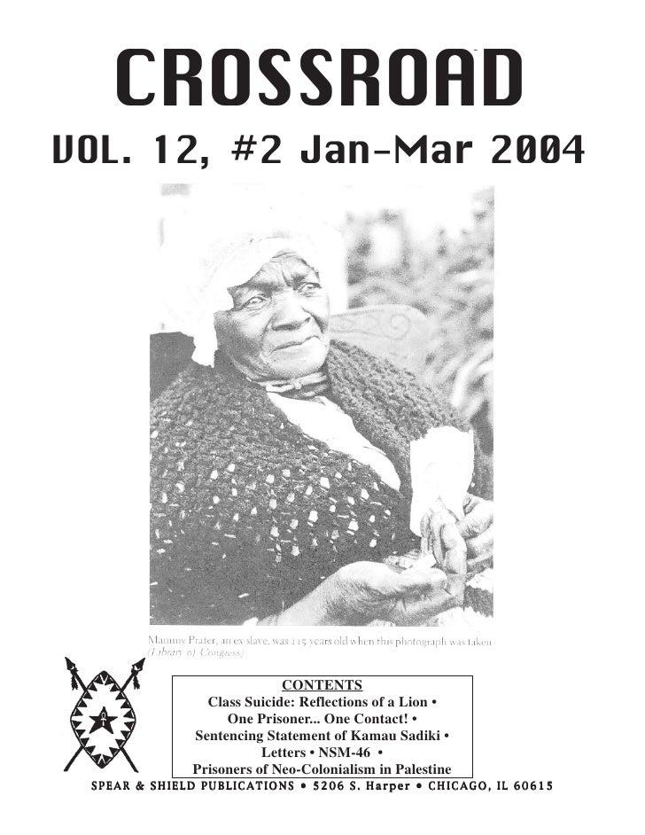 CROSSROAD /SSP, VOL. 12, #2       - 1 -                    Jan - Mar 2004     CROSSROADVOL. 12, #2 Jan-Mar 2004           ...