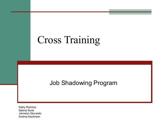 Cross Training                    Job Shadowing ProgramKathy RamirezSabina SulatJennelyn GiovandoAndrea Kaufmann
