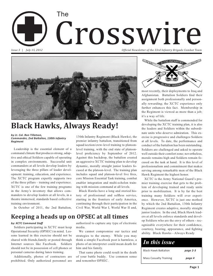 Crosswire                                   TheIssue 3 | July 15, 2012                                                    ...