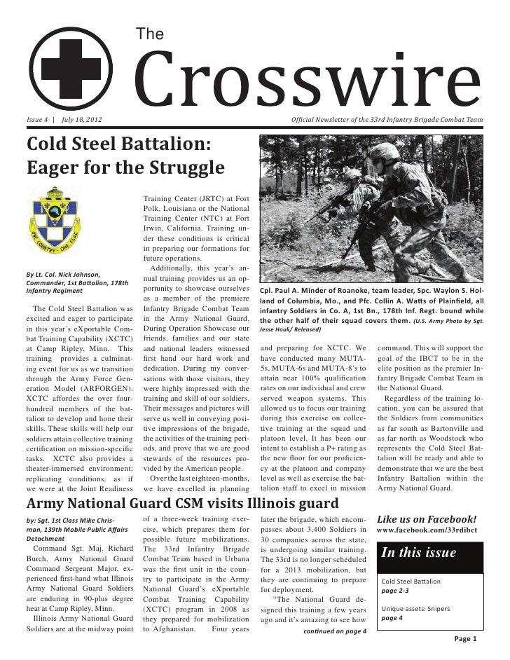 Crosswire                                      TheIssue 4 | July 18, 2012                                                 ...