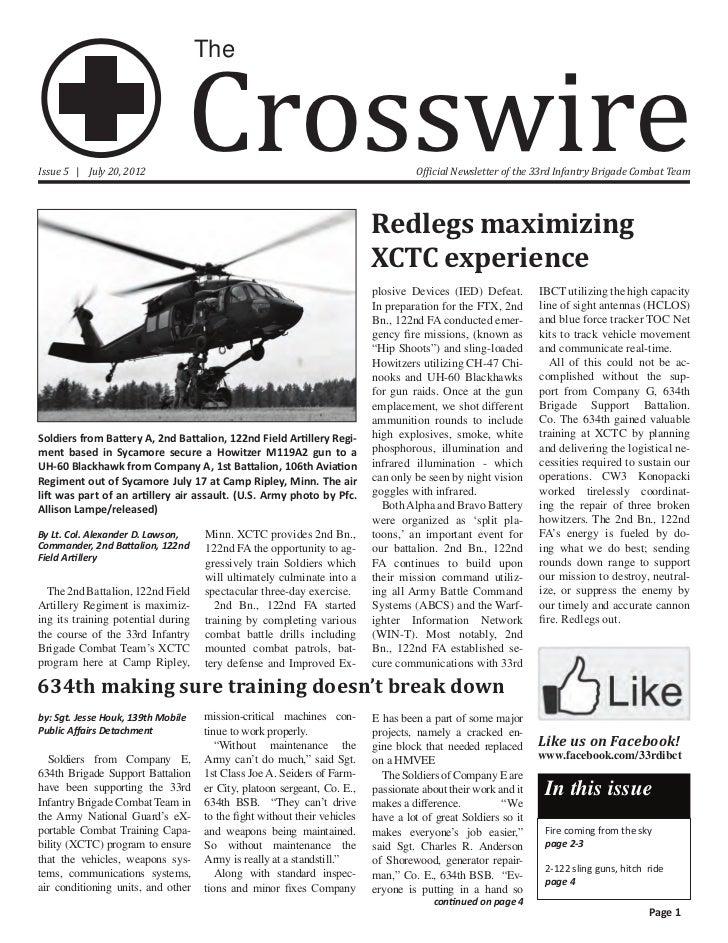Crosswire                                    TheIssue 5 | July 20, 2012                                                   ...