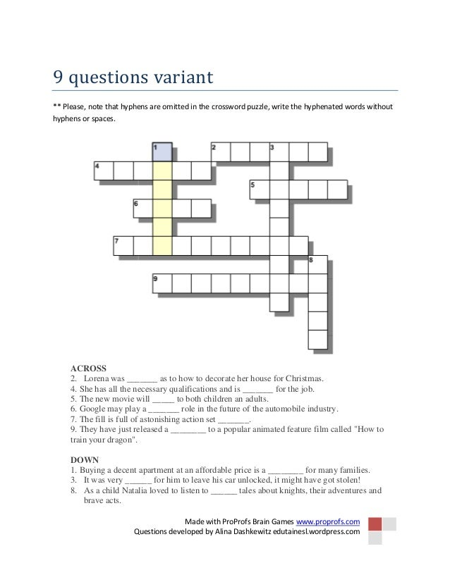 Crossword puzzle film review vocabulary workshop 2 ccuart Choice Image