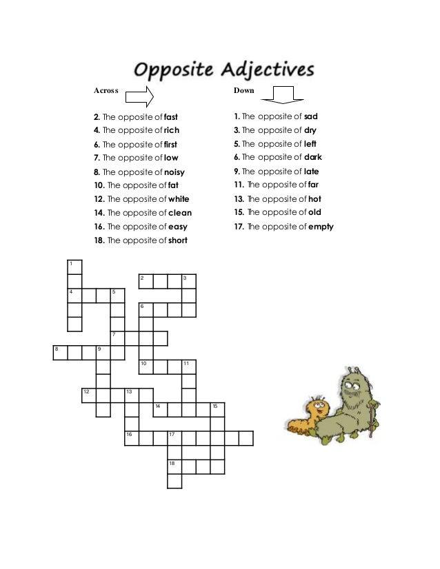 End Of Letter Crossword