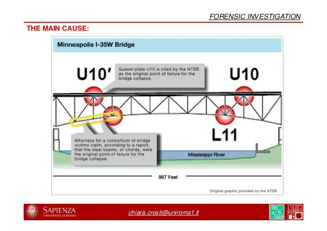 chiara.crosti@uniroma1.it INSPECTION REPORTING FOR I-35W BRIDGE, 2006 GUSSET PLATE??? FORENSIC INVESTIGATION