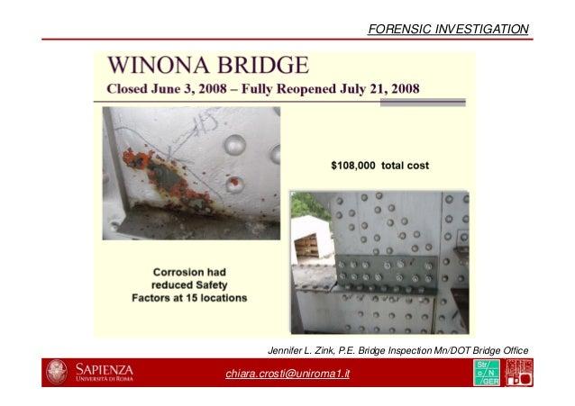chiara.crosti@uniroma1.it NIST PHYSICAL INFRASTRUCTURE PROGRAM FHWA TEST, VIRGINIA (2010)