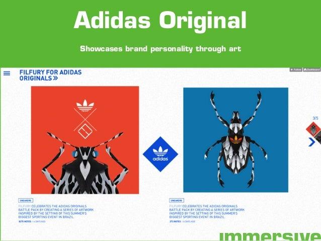 Showcases brand personality through art Adidas Original