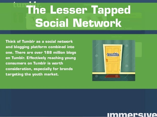 Think of Tumblr as a social network and blogging platform combined into one. There are over 188 million blogs on Tumblr. E...