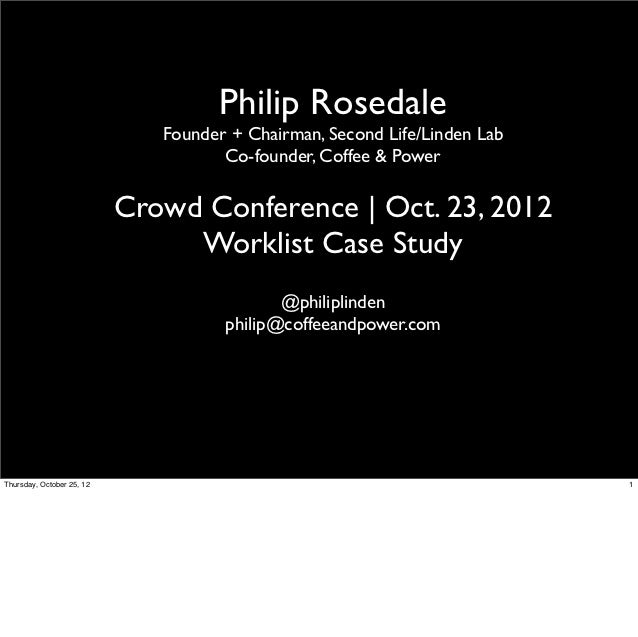 Philip Rosedale                              Founder + Chairman, Second Life/Linden Lab                                   ...