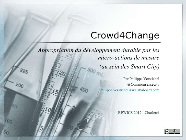 Crowd4ChangeAppropriation du développement durable par les                       micro-actions de mesure                  ...