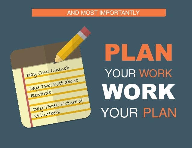 how to plan your work