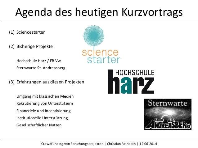 Crowdfunding von Forschungsprojekten Slide 2