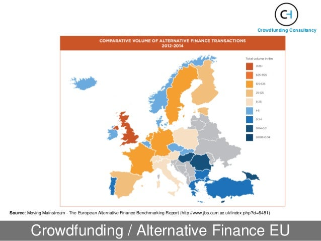 Crowdfunding / Alternative Finance EU Source: Moving Mainstream - The European Alternative Finance Benchmarking Report (ht...