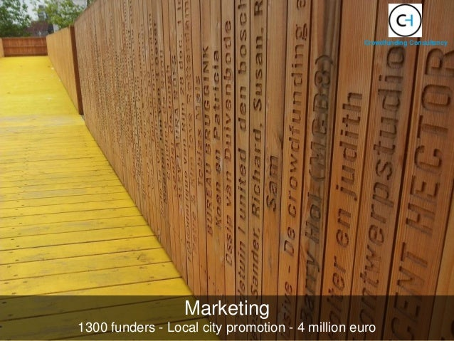Marketing 1300 funders - Local city promotion - 4 million euro Crowdfunding Consultancy