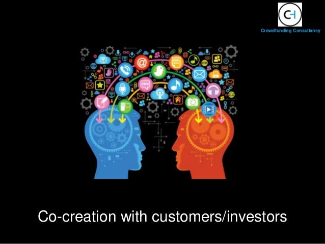 Co-creation with customers/investors Crowdfunding Consultancy