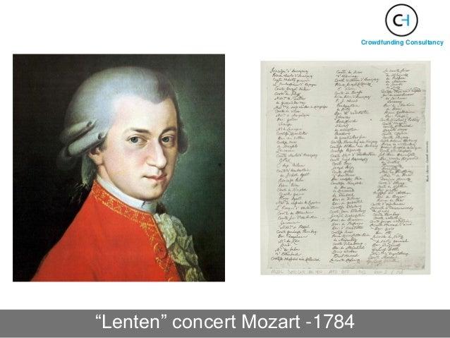 """""""Lenten"""" concert Mozart -1784 Crowdfunding Consultancy"""