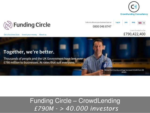 Funding Circle – CrowdLending £790M - > 40.000 investors Crowdfunding Consultancy
