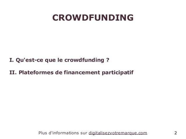 Le crowdfunding ou financement participatif Slide 2