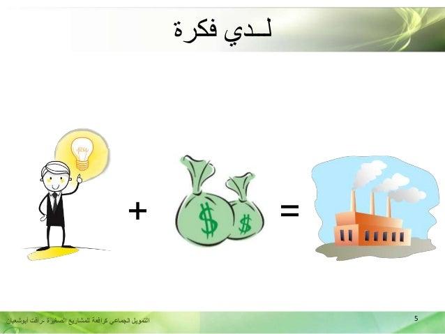 5الصغيرة للمشاريع كرافعة الجماعي التمويل-أبوشعبان رأفت + = فكرة لــدي