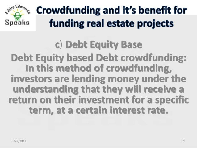 Crowdfunding and it's benefit for funding real estate 1